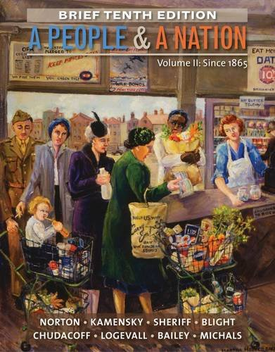 A People and a Nation - Since 1865:   2014 edition cover