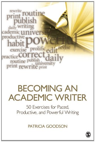 Becoming an Academic Writer 50 Exercises for Paced, Productive, and Powerful Writing  2013 edition cover