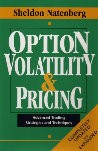 Option Volatility and Pricing Advanced Trading Strategies and Techniques 2nd 1995 edition cover