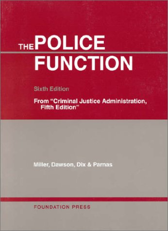 Police Function  6th 2000 (Revised) edition cover