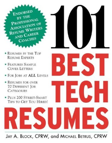 101 Best Tech Resumes  2nd 2003 (Revised) 9780071408868 Front Cover