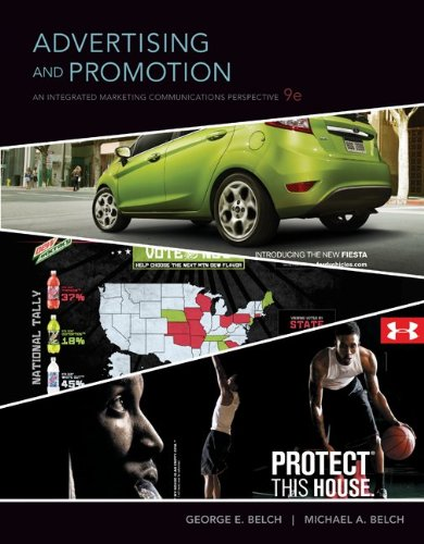 Advertising and Promotion An Integrated Marketing Communications Perspective 9th 2012 9780073404868 Front Cover