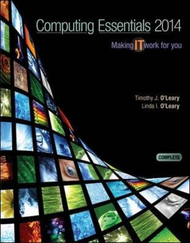 Computing Essentials 2014  24th 2014 9780073516868 Front Cover