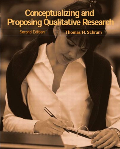 Conceptualizing and Proposing Qualitative Research  2nd 2006 (Revised) edition cover