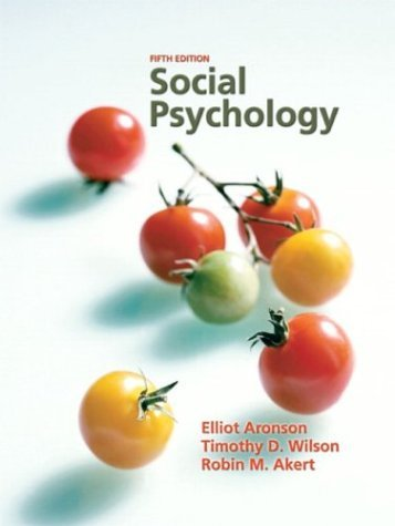Social Psychology  5th 2005 edition cover