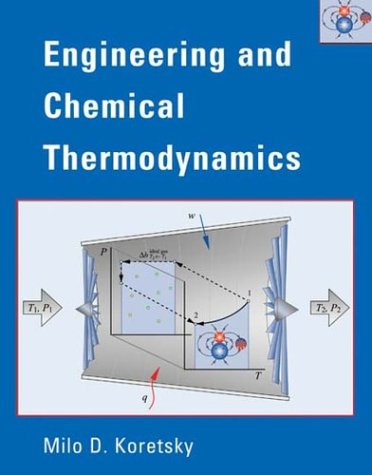 Engineering and Chemical Thermodynamics   2004 edition cover
