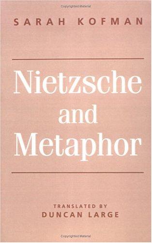 Nietzsche and Metaphor   1994 edition cover