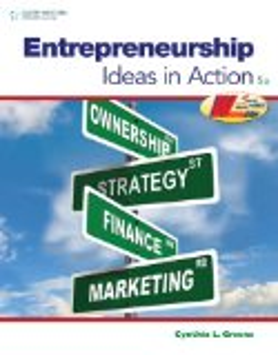 Entrepreneurship Ideas in Action 5th 2012 edition cover