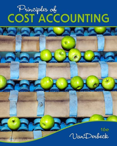 Principles of Cost Accounting  16th 2013 edition cover