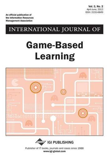 International Journal of Game-Based Learning, Vol 3 ISS 2  0 edition cover