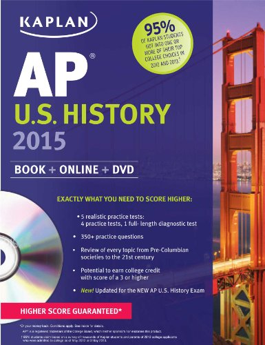 Kaplan AP U. S. History 2015  N/A edition cover