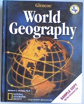 Glencoe World Geography Texas Student Edition 2003  N/A edition cover