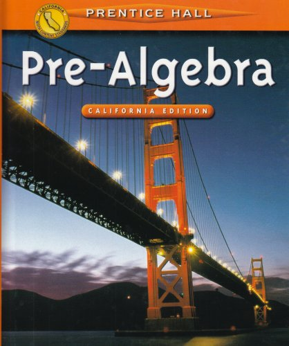 Pre-Algebra: California Edition  2001 9780130504869 Front Cover