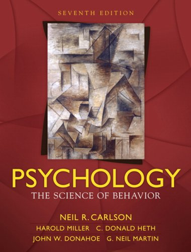 Psychology The Science of Behavior 7th 2010 edition cover