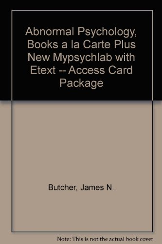 Abnormal Psychology, Books a la Carte Plus NEW MyPsychLab with EText -- Access Card Package  16th 2014 edition cover