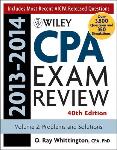 Wiley CPA Examination Review 2013-2014 Problems and Solutions 40th 2013 edition cover
