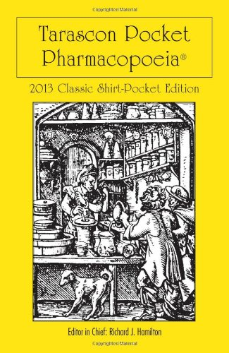 Tarascon Pocket Pharmacopoeia 2013 Classic Shirt-Pocket Edition 27th 2013 edition cover