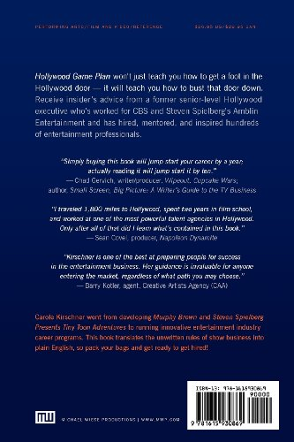 Hollywood Game Plan How to Land a Job in Film, TV and Digital Entertainment  2012 edition cover