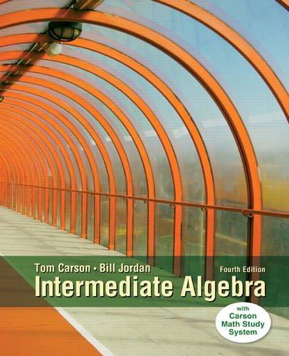 Intermediate Algebra  4th 2015 edition cover