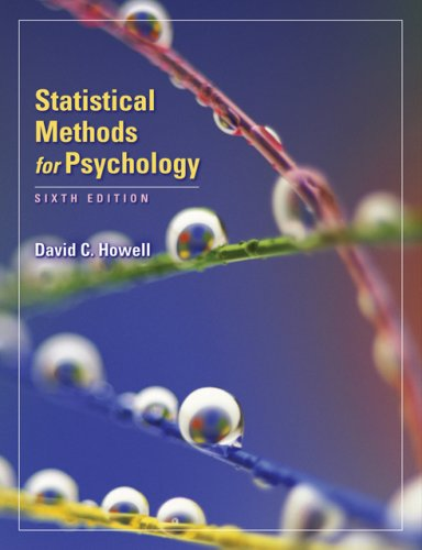 Statistical Methods for Psychology  6th 2007 edition cover