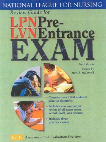 Review Guide for LPN/LVN Pre Entrance Exam  2nd 2004 (Revised) edition cover