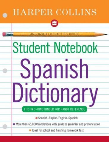 HarperCollins Student Notebook Spanish Dictionary  N/A edition cover
