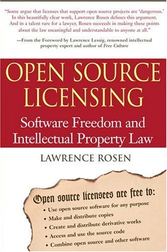 Open Source Licensing Software Freedom and Intellectual Property Law  2005 edition cover