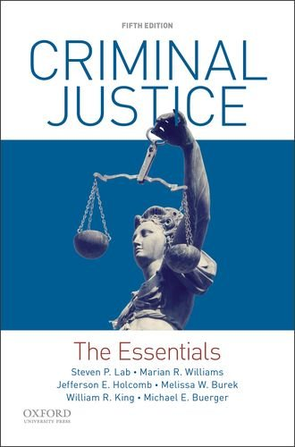 Criminal Justice: The Essentials  2018 9780190855871 Front Cover