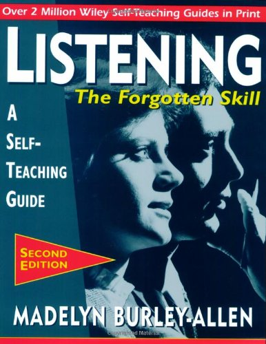 Listening The Forgotten Skill 2nd 1995 (Revised) edition cover
