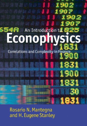 Introduction to Econophysics Correlations and Complexity in Finance  2007 edition cover