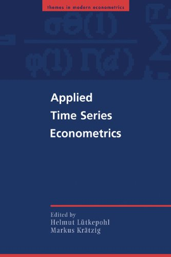 Applied Time Series Econometrics   2004 9780521547871 Front Cover