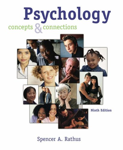 Psychology Concepts and Connections 9th 2005 (Revised) 9780534462871 Front Cover