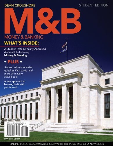 M and B Money and Banking  2010 9780538745871 Front Cover