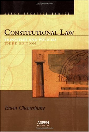 Constitutional Law Principles and Policies 3rd 2006 (Student Manual, Study Guide, etc.) edition cover