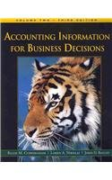 Accounting: Information for Business Decisions, Volume 2  3rd 2010 9781111066871 Front Cover