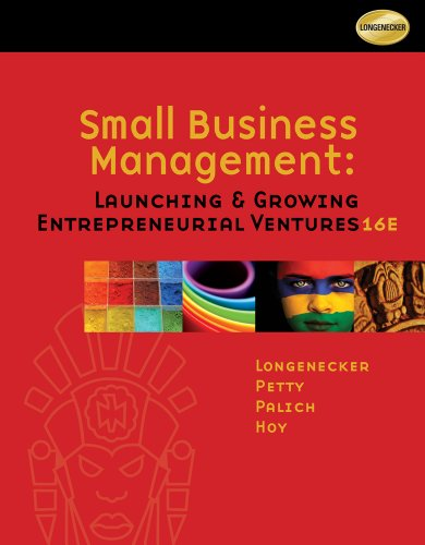 Small Business Management Launching and Growing Entrepreneurial Ventures 16th 2012 edition cover