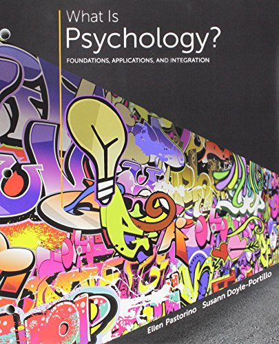 What Is Psychology? + Lms Integrated for Mindtap Psychology, 1-term Access: Foundations, Applications, and Integration  2015 9781305700871 Front Cover