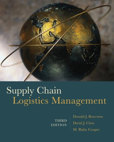 Supply Chain Logistics Management  3rd 2010 edition cover