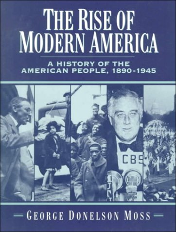 Rise of Modern America A History of the American People, 1890-1945  1995 edition cover