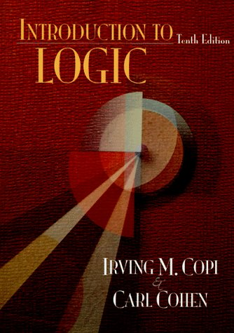 Introduction to Logic  10th 1998 edition cover