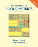 Introduction to Econometrics, Update  3rd 2015 edition cover