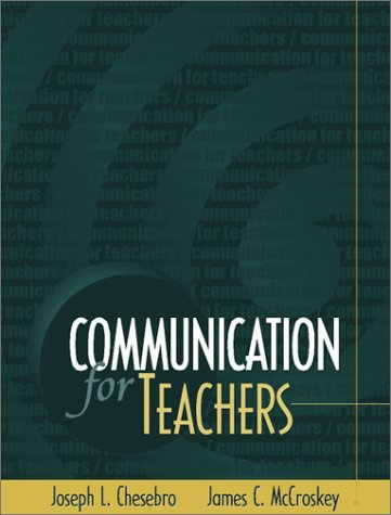 Communication for Teachers   2002 9780205318872 Front Cover