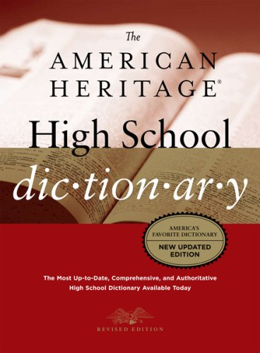 American Heritage High School Dictionary  4th 2007 9780618714872 Front Cover
