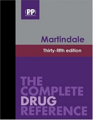 Martindale: The Complete Drug Reference  2006 edition cover