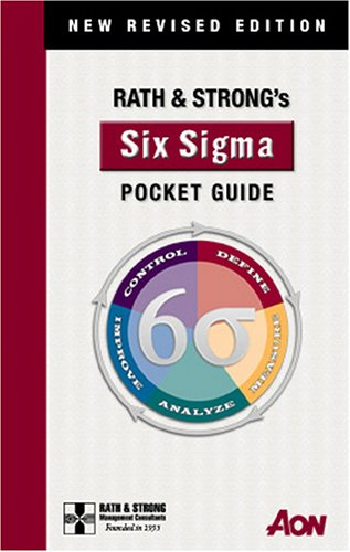 Rath and Strong's Six Sigma Pocket Guide 2nd edition cover