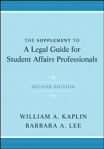 Supplement to a Legal Guide for Student Affairs Professionals  2nd 2011 edition cover