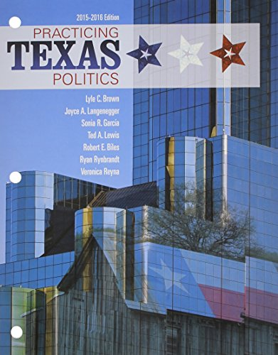 Practicing Texas Politics 2015-2016:   2015 9781305633872 Front Cover