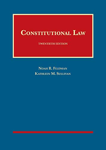 CONSTITUTIONAL LAW                      N/A 9781683287872 Front Cover