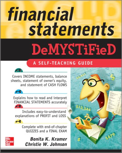 Financial Statements Hard Stuff Made Easy  2009 edition cover