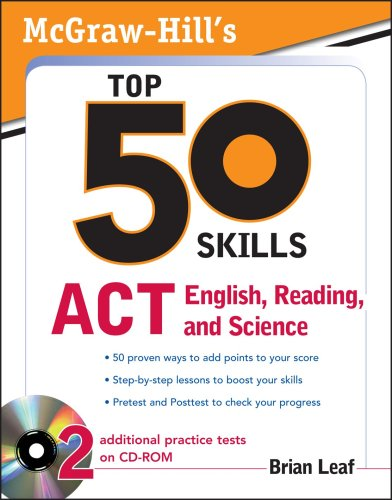 Top 50 Skills for a Top Score ACT English, Reading, and Science  2010 9780071613873 Front Cover